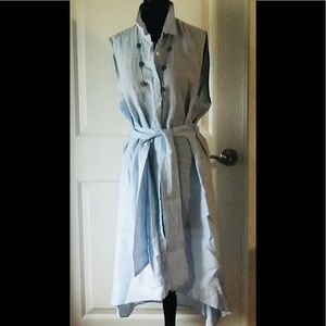 Saks Fifth Avenue Asymmetrical Maxi Linen Dress